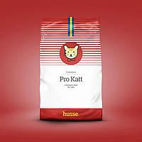 Сухой корм для котов и кошек полнорационный шведский 15 кг Husse Pro Katt