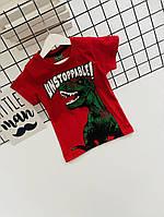 Футболка на мальчика с динозавром 3-5 лет