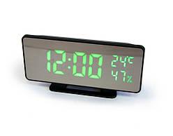 Настільний годинник світлодіодний  VST-888Y, електронний led годинник з барометром і термометром, дзеркальний