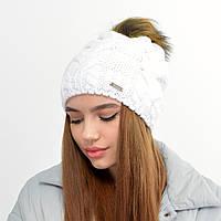 Женская шапка на флисе 3330  белый