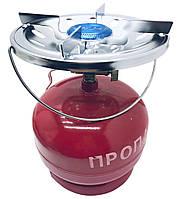 Газовий балон з пальником ТУРИСТ (кемпінг) 5 літрів