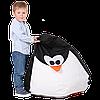 """Детское бескаркасное кресло-груша """"Пингвин"""" 90х60 (черный/белый) Oxford 600 Den"""