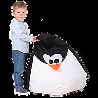 """Детское бескаркасное кресло-груша """"Пингвин"""" 90х60 (черный/белый) Oxford 600 Den, фото 1"""