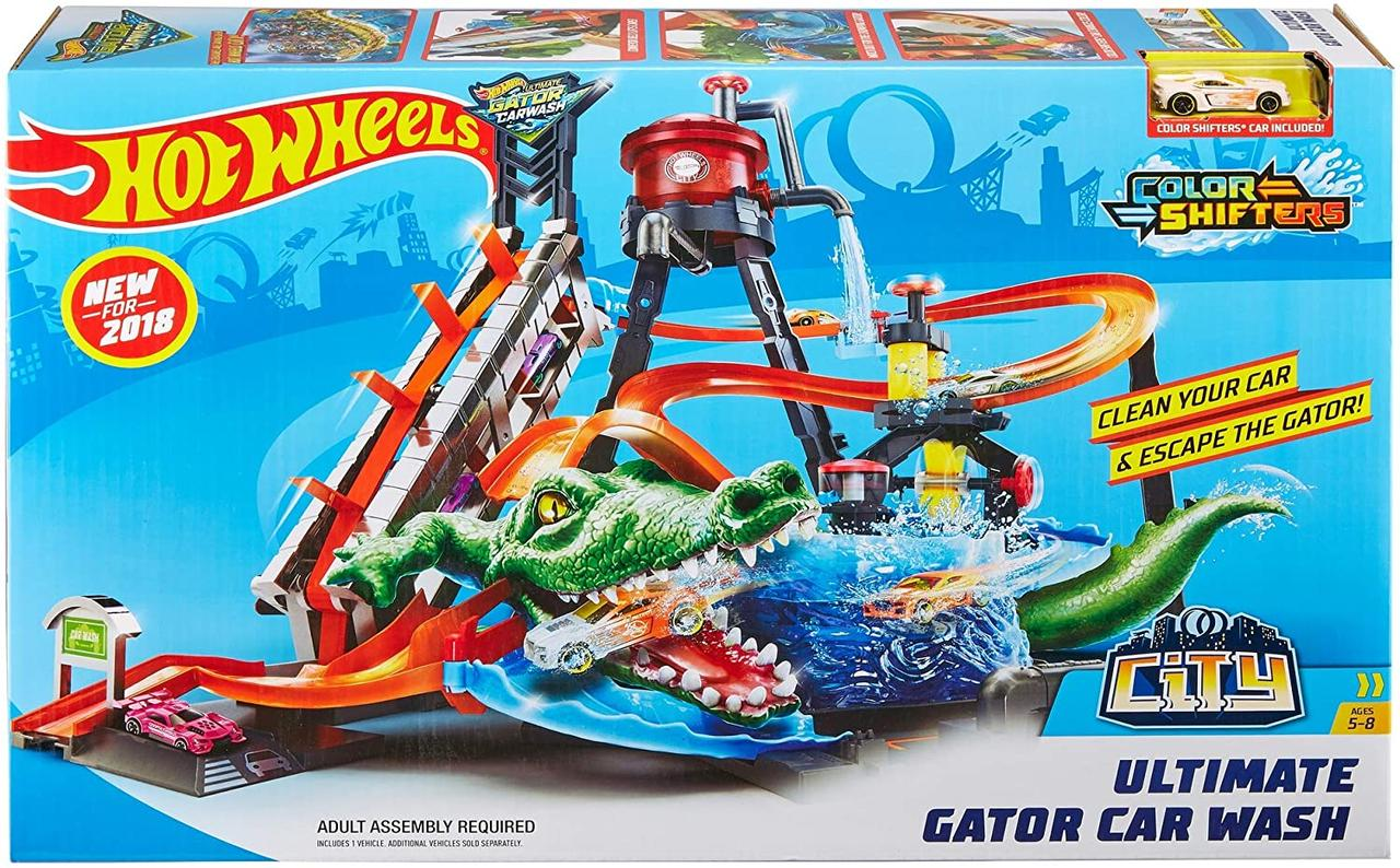 Трек Хот Вілс Автомийка Водонапірна башта FTB67 Mattel Hot Wheels Ultimate Gator Car Wash