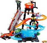 Трек Хот Вілс Автомийка Водонапірна башта FTB67 Mattel Hot Wheels Ultimate Gator Car Wash, фото 6