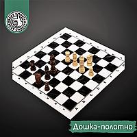 Шахматный набор дорожный ZELART Фигуры деревянные С полотном PVC Коричневый белый (300P)