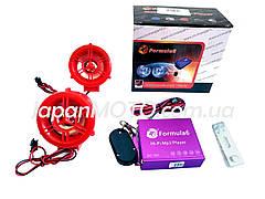Аудиосистема 2.0 MP3 (USB/SD), пульт, сигнализация 'F6' (красная)