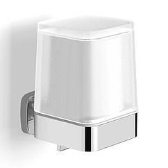 Дозатор для жидкого мыла на стену VOLLE TEO 15-88-422 с нижним нажимом хром 300мл стекло 71496