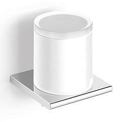 Дозатор для жидкого мыла настенный VOLLE FIESTA 15-77-323 с нижним нажимом хром 300мл стекло 71668