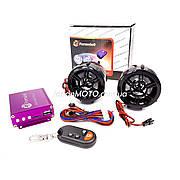 Аудиосистема 2.0 MP3 (USB/SD), пульт, сигнализация 'F6' (черная)