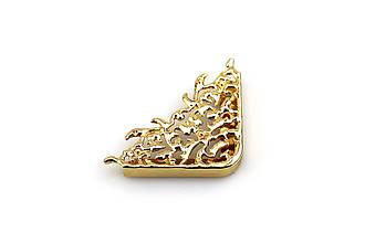 Угловой элемент для сумок 47*63мм, золото