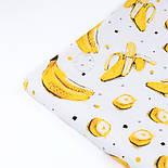 """Ранфорс шириною 240 см з принтом """"Банани"""" на білому (№3388), фото 3"""