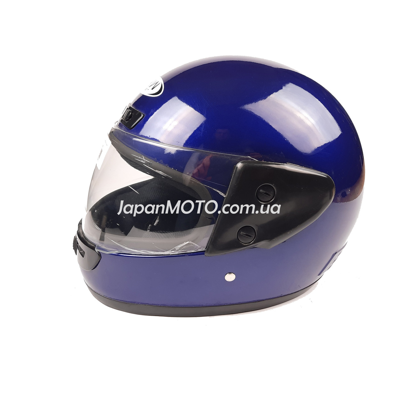 Шлем закрытый HF-101 (size: M, синий глянцевый)