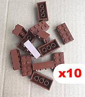 Кубики 2х4 пина, аналог Лего, Lego Classic (коричневый) 10 шт