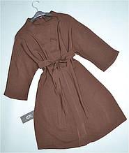 Женский халат кимоно для дома и отдыха Este штапель 232-коричневый.