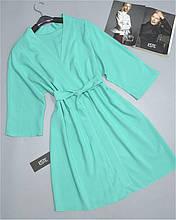 Штапельный халат женский домашний Este 232-мятный.