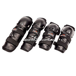 Мотозахист наколінники +налокітники 'VEMAR' #S109, пластик, чорні, фото 2