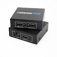 Сплиттер HDMI - 2*HDMI FullHD активный TRY БП в комплекте черный новый гарантия 12мес!