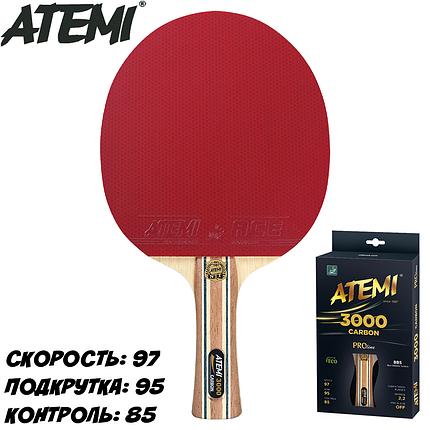 Ракетка для настольного тенниса ATEMI 3000 PRO CARBON ECO LINE, фото 2