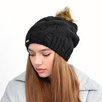 Женская шапка на флисе 3330 черный