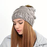 Женская шапка на флисе 3330 капучино
