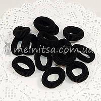 Резинки для волос махровые Калуш, черные, 3 см (10 шт)