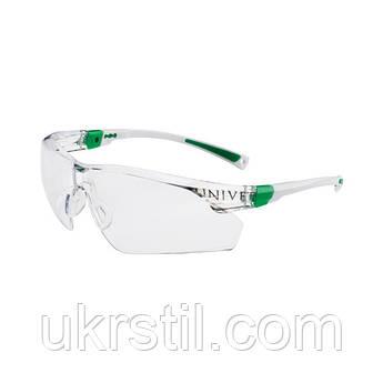 Очки защитные незапотевающие с покрытием от царапин бело-зеленые, 506U Univet