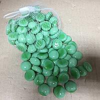 Камни для декора стеклянные зеленый матовый 180 гр