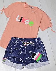Комплект для девочки (футболка с коротким рукавом и шорты) (Likee) ADK (размер 158)