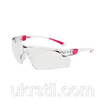 Очки защитные незапотевающие с покрытием от царапин бело-розовые, 506U Univet