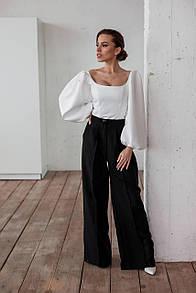 Женские брюки-клёш черные