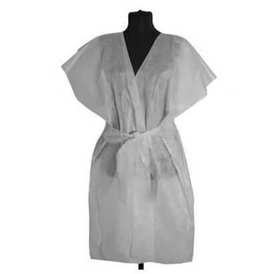 Халат-кимоно  косметологический одноразовый, без рукава
