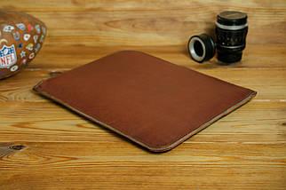 Кожаный чехол для MacBook на молнии, с войлочной подкладкой, Кожа Итальянский краст, цвет Коричневый, фото 2