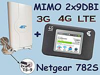 Карманный мобильный 4G/3G WiFi Роутер Netgear 782S +Антенна MIMO 9dBi