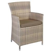 Кресло Викер Бежевый, кресло плетеное, кресло из искусственного ротанга