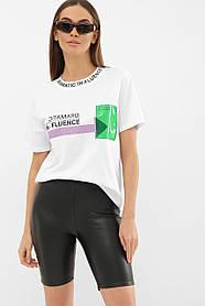 Крутая белая футболка инфлюенсер с силиконовым карманом Турция  S M L Xl