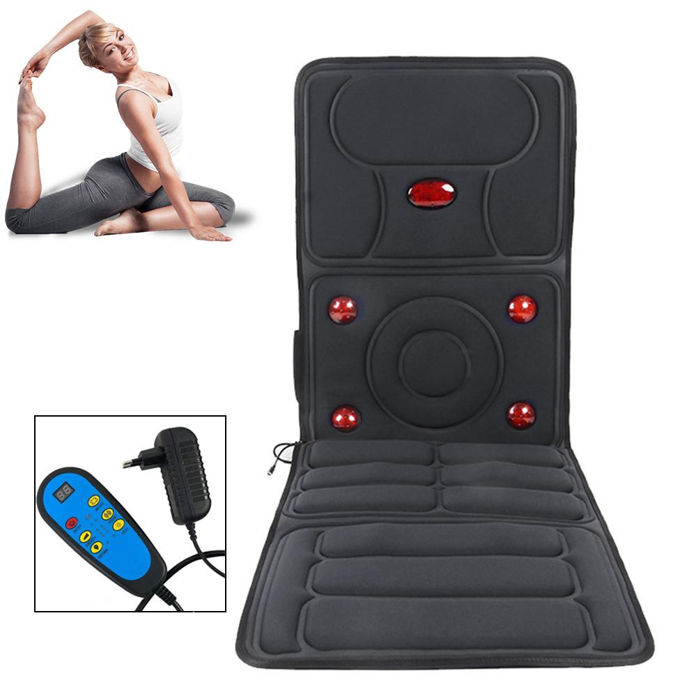 Масажний матрац килимок з підігрівом і пультом Healthy Life JB-618A Масажер з вібрацією для всього тіла