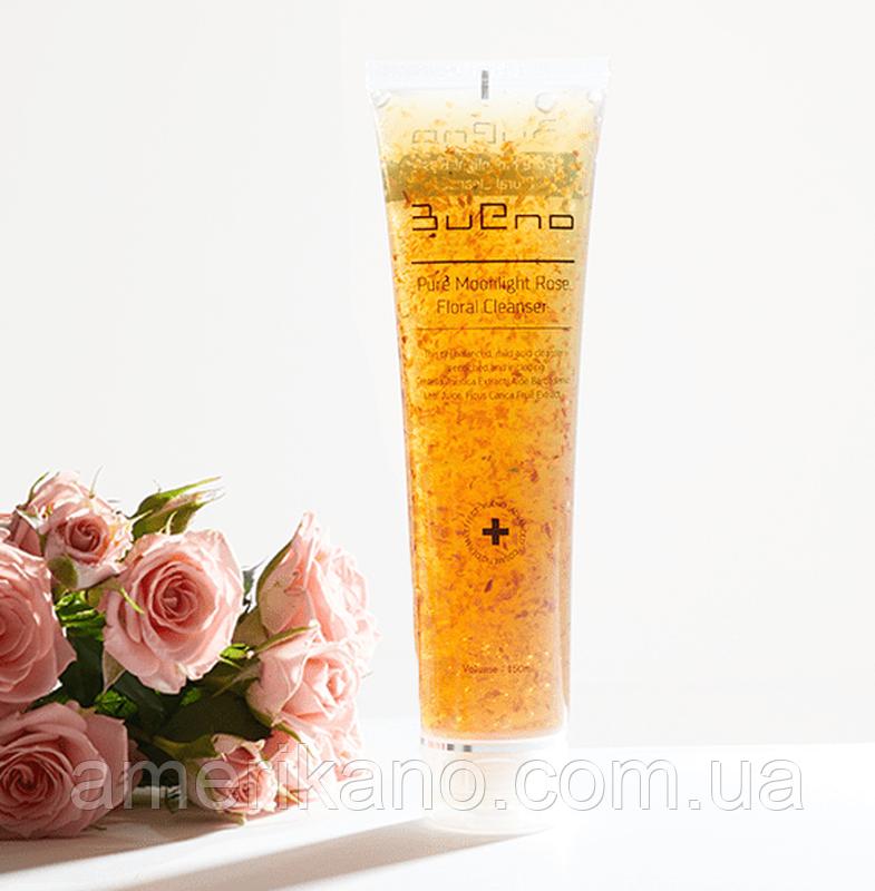 Гель для умывания с лепестками роз Bueno Pure Moonlight Rose Floral Cleanser 80 мл