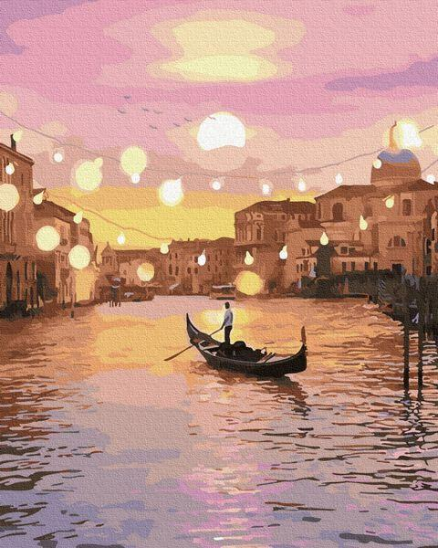 Картины по номерам 40х50 см Brushme Сказочная вечерняя Венеция (GX 32456)