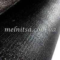 Фатин черный, с блеском, ср.жесткость, ширина 3 м