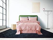 Постельное белье сатин Deluxe Bella Villa с вышивкой розовый