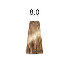 Стойкая краска для волос 8.0 светлый блондин 60 мл, Mirella Professional
