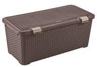 Ящик для хранения пластиковый  Ротанг коричневый 72 л 790Х400Х330 мм Curver CR-0156