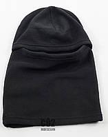 Шапка Феска (Балаклава) черная флис