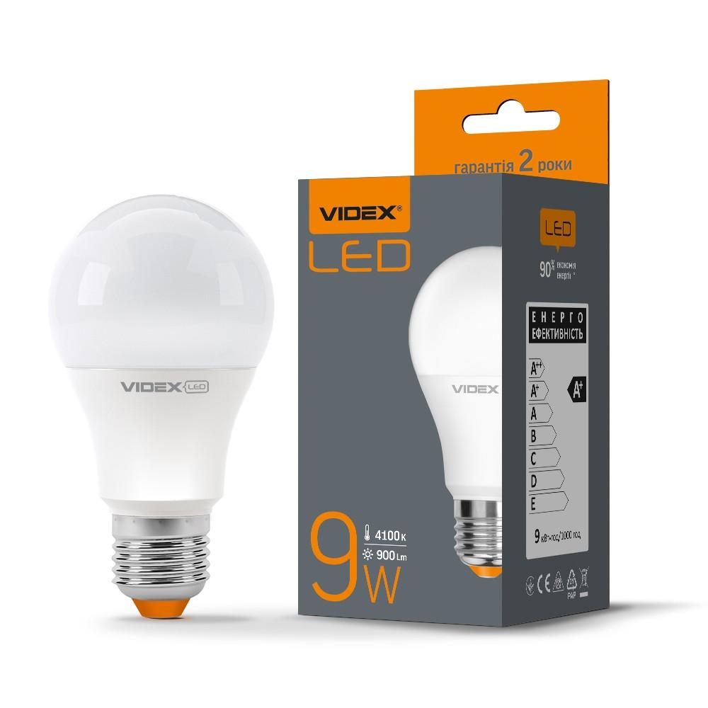 Світлодіодна лампа Videx A60e 9W E27 4100K