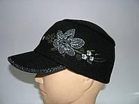 Вязаная кепка женская, фото 1