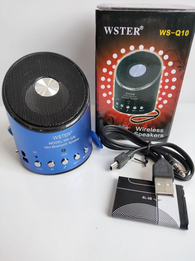 Бездротова колонка WSTER WS-Q10 з Bluetooth MP3 радіоприймачем