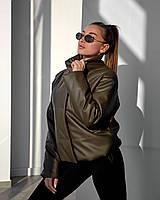 Молодежная демисезонная куртка из эко-кожи 42, 44, 46, 48