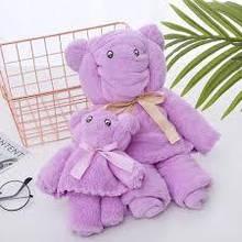 Подарочный набор полотенец, 2 шт, мишка и медвежонок