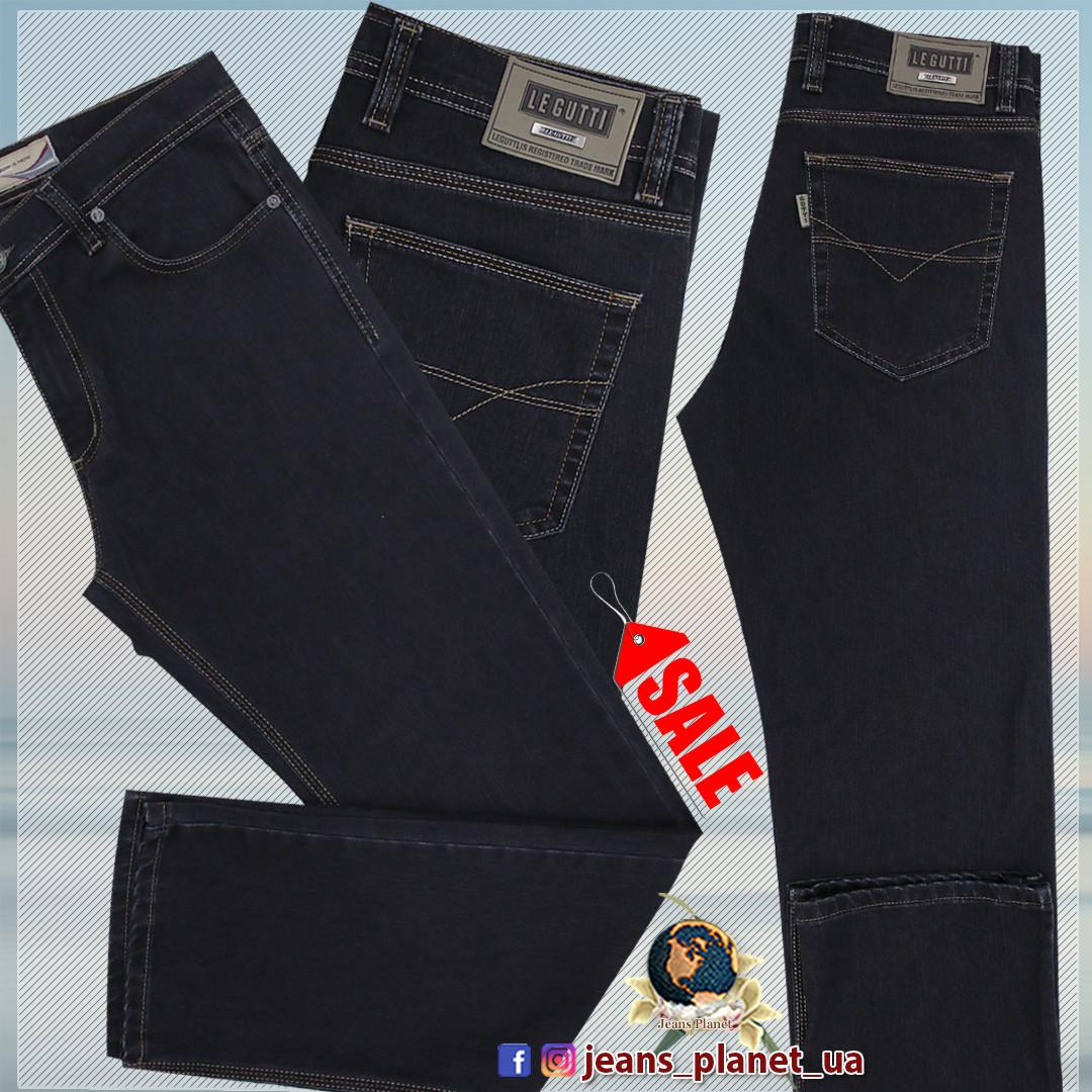 Джинсы мужские классические прямые LeGutti тёмно-серого цвета 31 размер